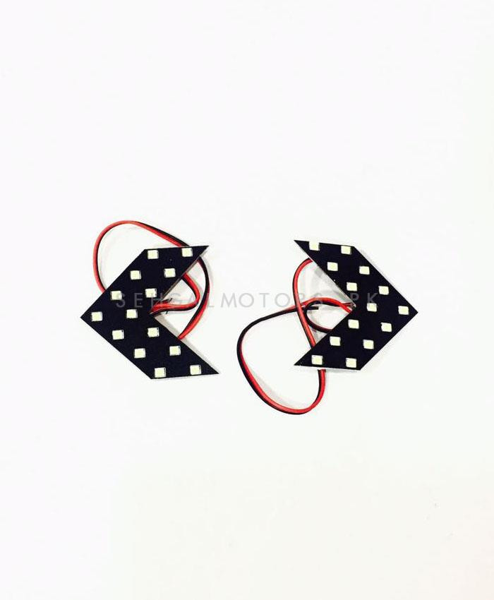 SMD Arrow Indicators    LED Turn Signal Light Flowing Auto Rearview Mirror Indicator Lights-SehgalMotors.Pk