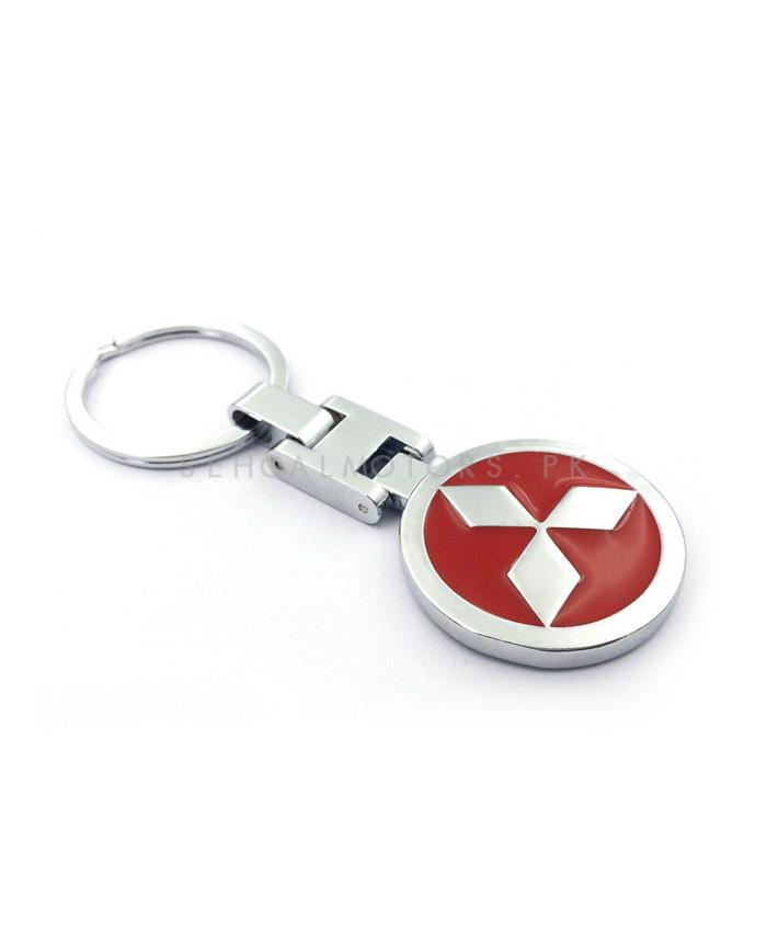 Mitsubishi Metal Key Chain / Key Ring Red | Key Chain Ring For Keys | New Fashion Creative Novelty Gift Keychains-SehgalMotors.Pk