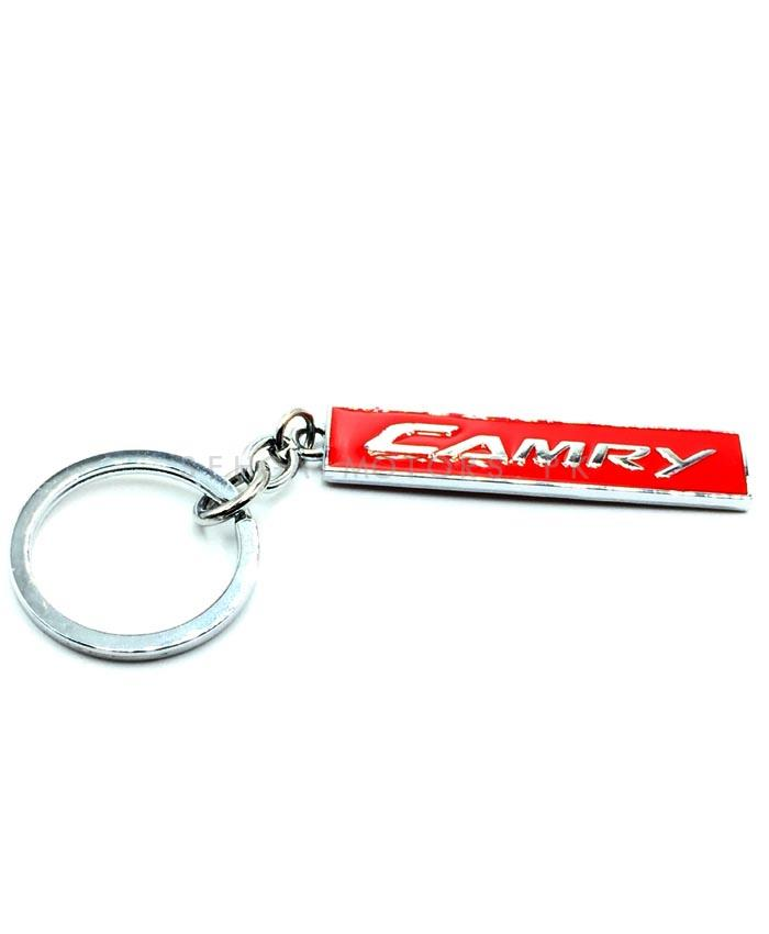 Camry Metal Key Chain / Key Ring Red Chrome | Key Chain Ring For Keys | New Fashion Creative Novelty Gift Keychains-SehgalMotors.Pk