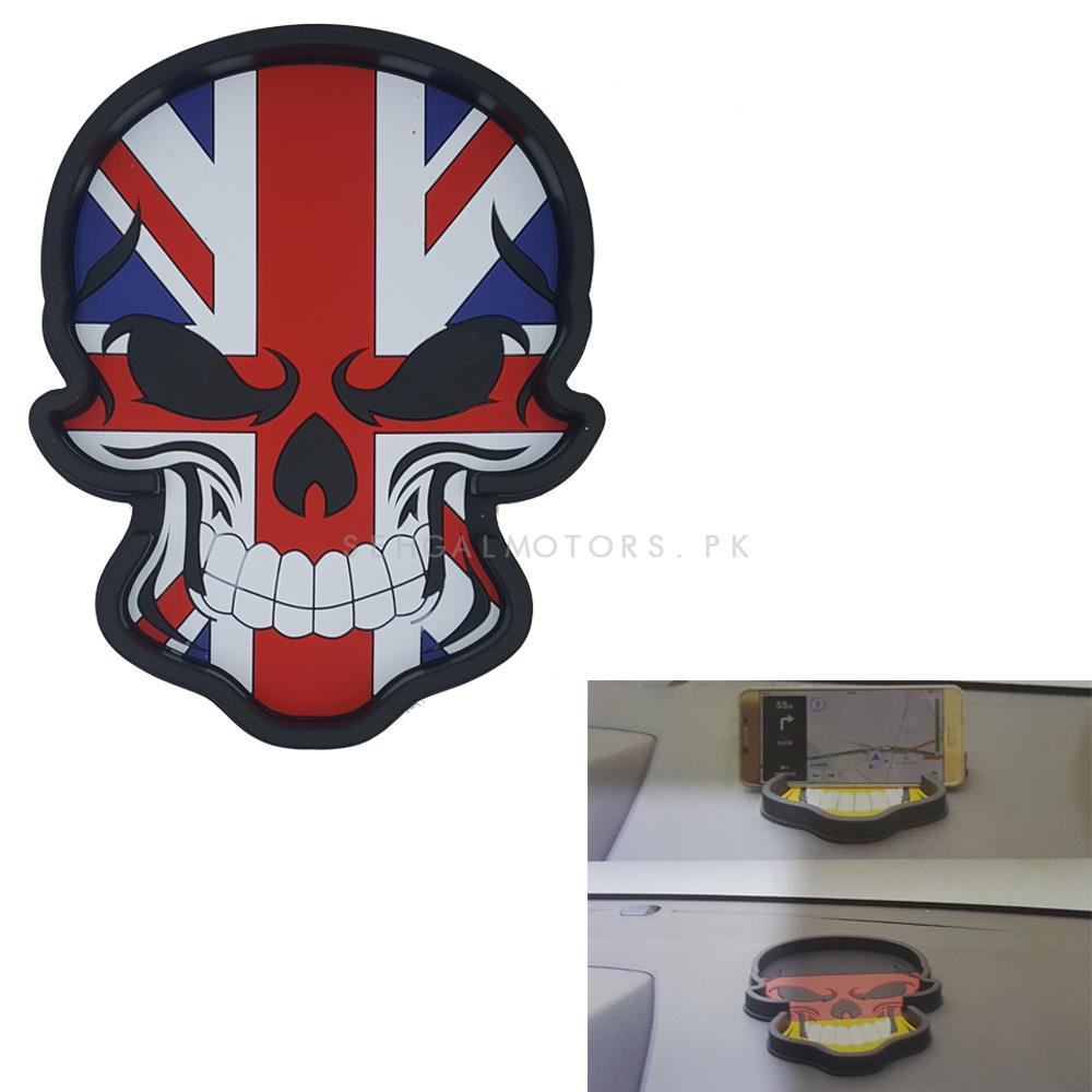 UK Flag Skull Style Dashboard Non Slip / Anti-Skid Mat-SehgalMotors.Pk