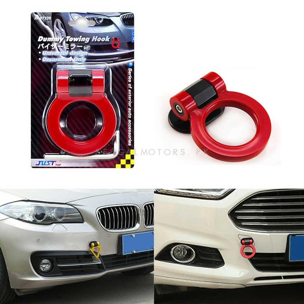Dummy Towing Hook Red | Car Front Bumper Tow Hook | Towing Hook-SehgalMotors.Pk