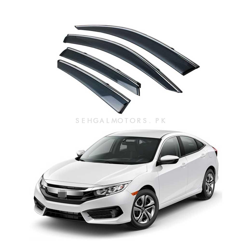 Honda Civic Air Press / Sun Visor with Chrome Grade A– Model 2016-2020-SehgalMotors.Pk