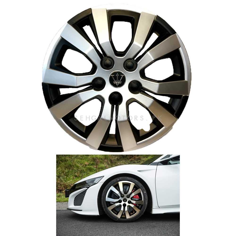 Wheel Cover ABS Black And Silver 13 inches - WA4-1SL-13-SehgalMotors.Pk