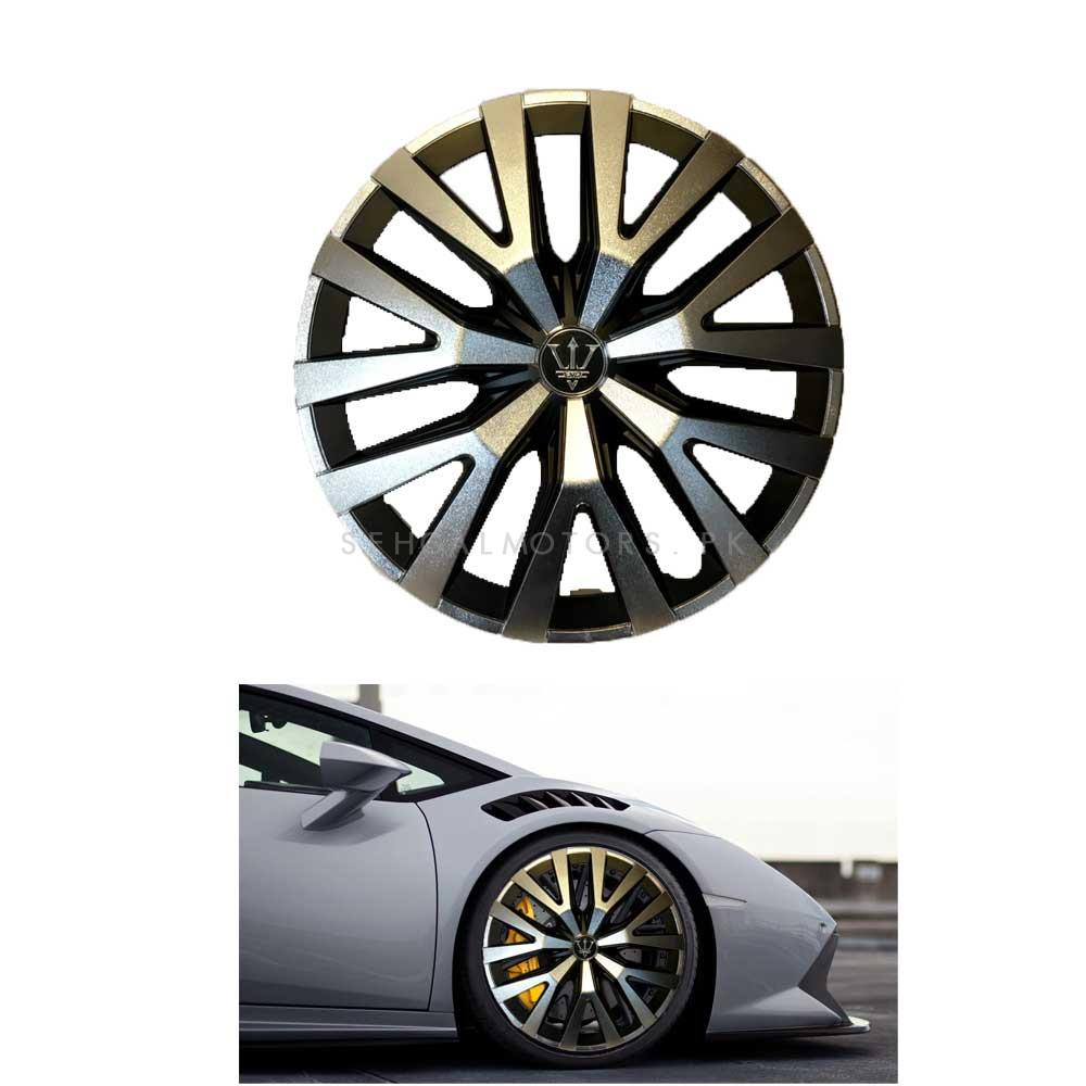 Wheel Cups / Wheel Covers ABS Black And Silver 14 Inches WD3-1SL-14	-SehgalMotors.Pk