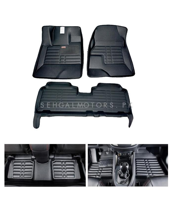 Honda Fit 5D Custom Floor Mat Black - Model 2013-2017-SehgalMotors.Pk
