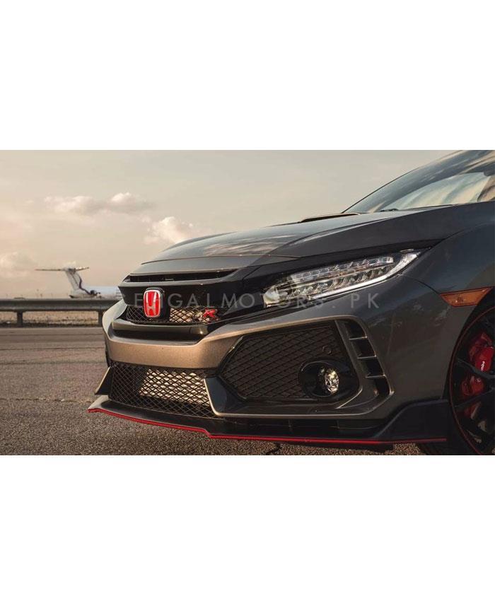 Honda Civic Type R Grille Black - Model 2016-2020  |Type R Style Grille | Civic Grille | New Style Civic Grille | Latest Model Grille | Front Grille Type R Style Hood Mesh Upper Grill-SehgalMotors.Pk