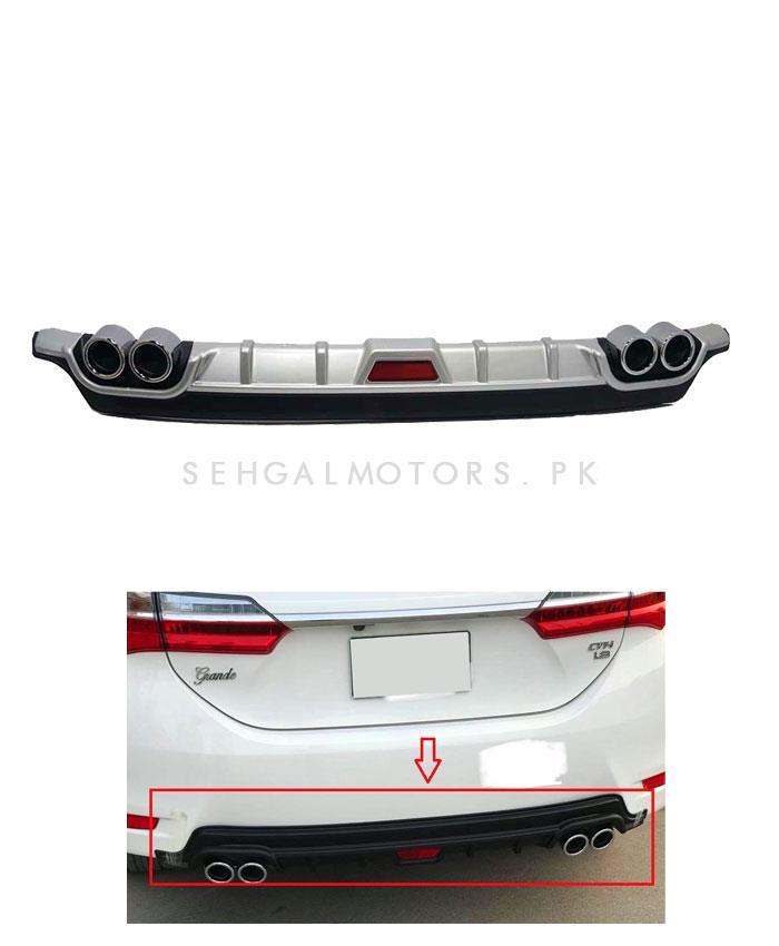 Toyota Corolla Kantara Style Diffuser Silver - Model 2014-2017-SehgalMotors.Pk