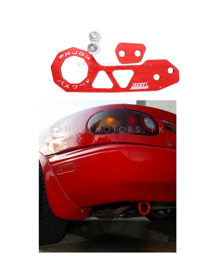 Password JDM Rear Tow Hook - Red    Towing Hook   Tow Hook  For Car   Modification Drift Decoration-SehgalMotors.Pk