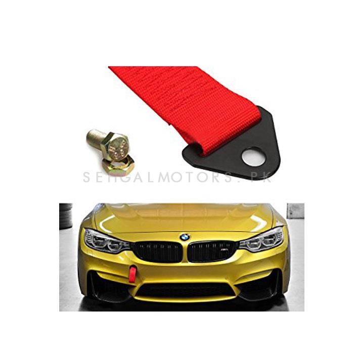 Car Front Bumper Strap Tow Hook - Red | Towing Hook -SehgalMotors.Pk