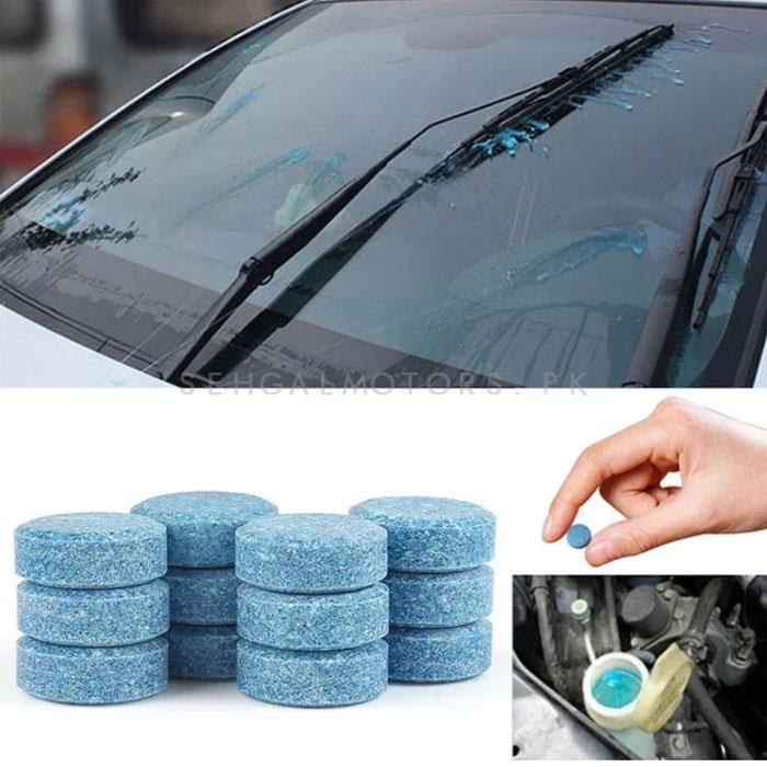Windshield Washer Tablet 2 Pcs | Water Car Windshield Glass Washer Cleaner Compact Effervescent Tablets | Detergent Car Beauty Tool Car Accessories | High Performance Car Glass Washer | Windshield Cleaner -SehgalMotors.Pk