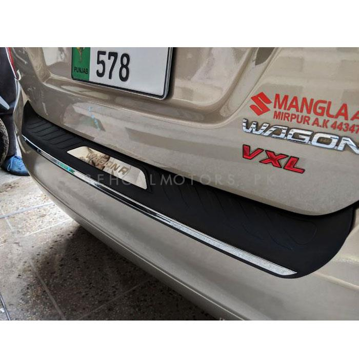 Suzuki Wagon R Rear Bumper Protector Deck Panel Cover - Model 2014-2017-SehgalMotors.Pk