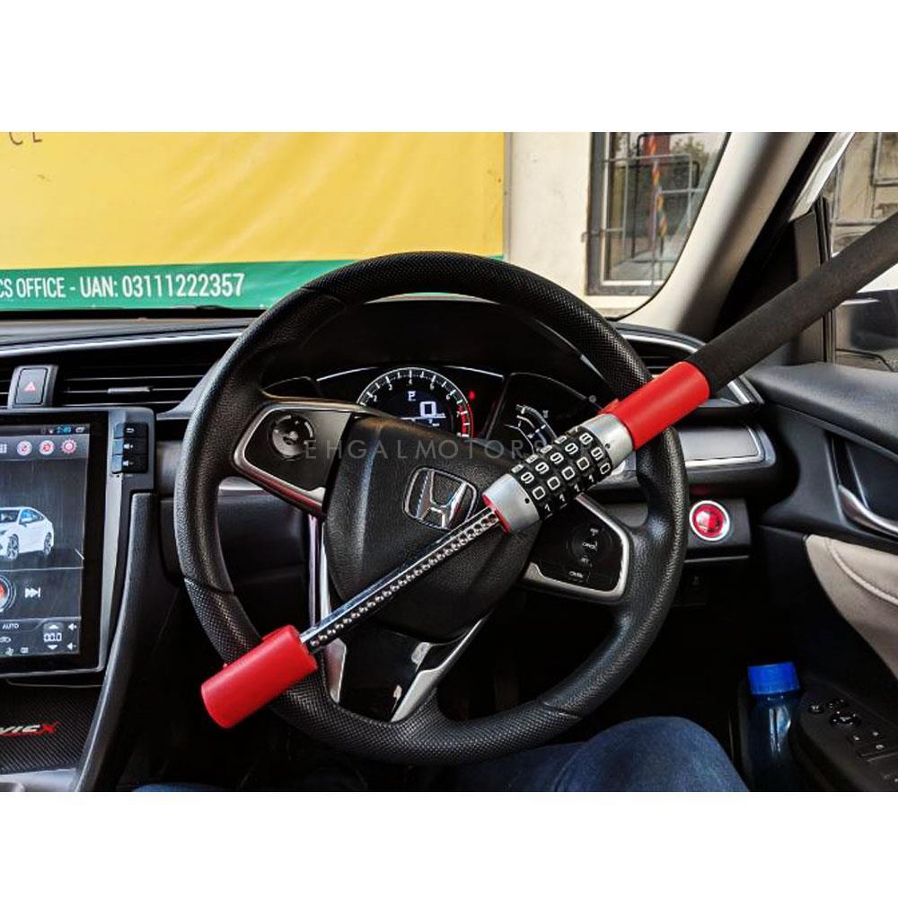 Car Security Anti Theft Password Steering Lock - Black -SehgalMotors.Pk