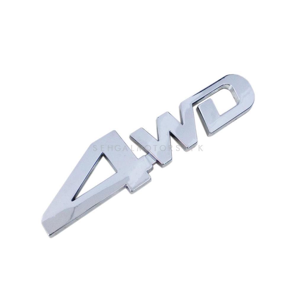 4WD Metal Monogram Full Chrome | Emblem | Decal | Monogram | Logo-SehgalMotors.Pk