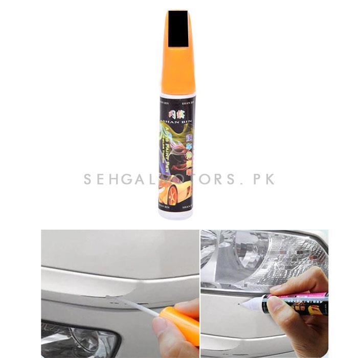 Car Scratch Filling Paint Color Pen Black  | Pro Mending Car Remover Scratch Repair Paint Pen Clear Painting Pen | Waterproof Car Auto Coat Scratch Clear Repair Paint Pen Touch up Remover Applicator Auto Care Tools -SehgalMotors.Pk