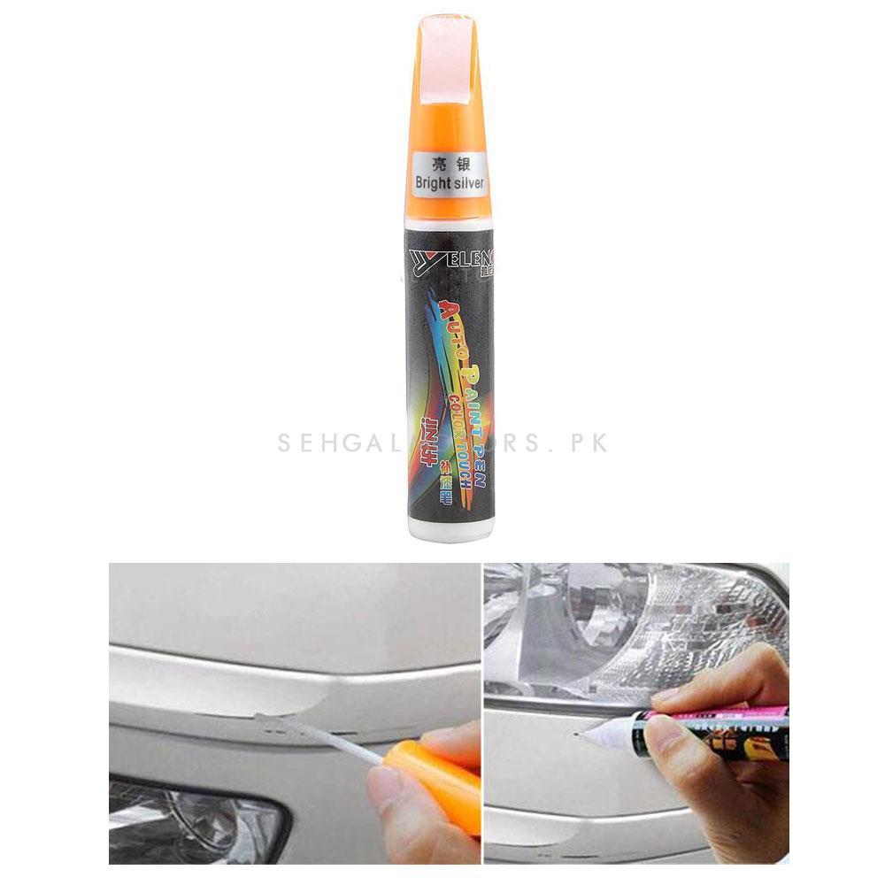 Car Scratch Filling Paint Color Pen White  | Pro Mending Car Remover Scratch Repair Paint Pen Clear Painting Pen | Waterproof Car Auto Coat Scratch Clear Repair Paint Pen Touch up Remover Applicator Auto Care Tools -SehgalMotors.Pk