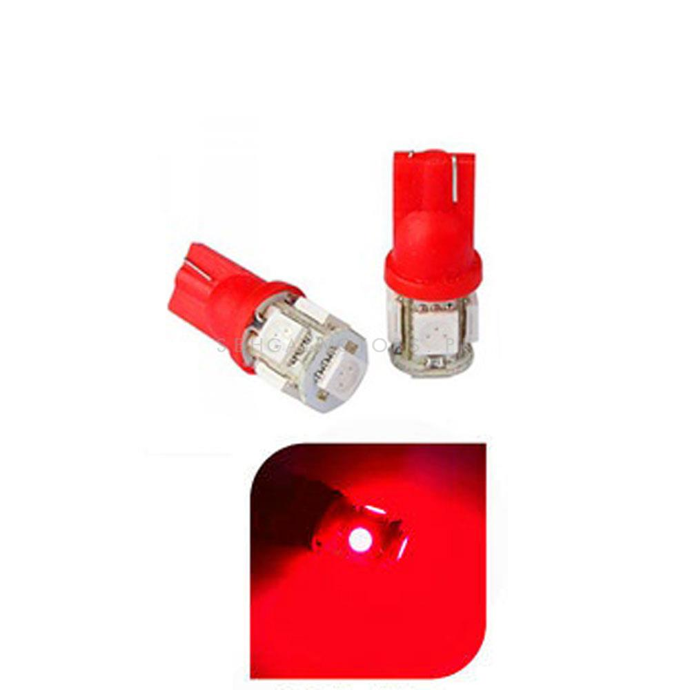 Maximus SMD 5 Parking Light Red - Pair | Led Light Bulb For Parking | SMD Car Interior Reading Dome Lamps Parking Lights Car Accessories-SehgalMotors.Pk