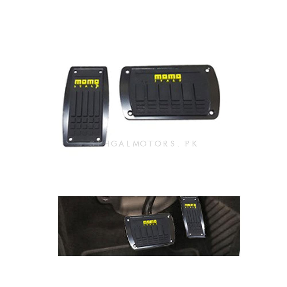 Momo Auto Transmission Pedal Cover Black | Cover Rubber Pedal Protective Cover | Car Styling Non Slip Car Pedal Cover Case-SehgalMotors.Pk