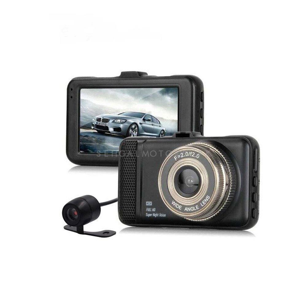 Margoun T659+ Full HD Dual Lens Vehicle BlackBOX DVR (Digital Video Recorder) Camera - Black-SehgalMotors.Pk