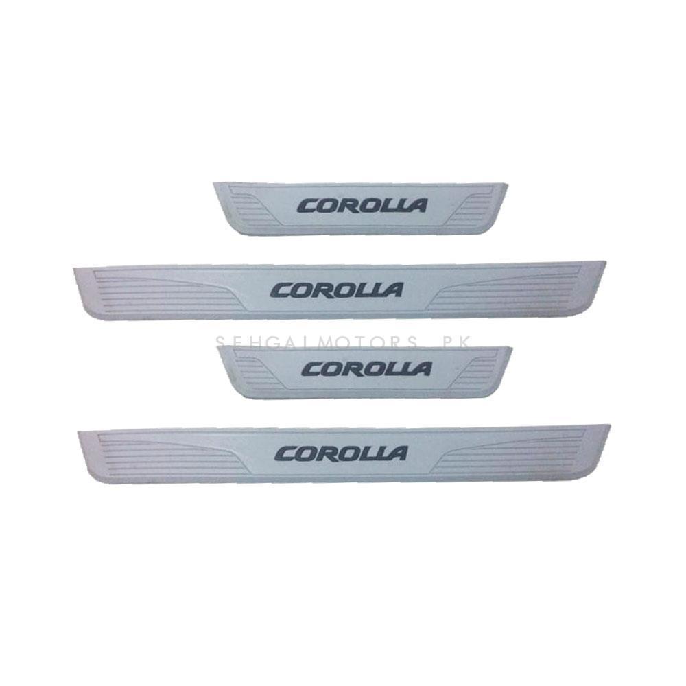 Toyota Corolla Rubber Door Sill Plates Grey - Model 2017-2020-SehgalMotors.Pk