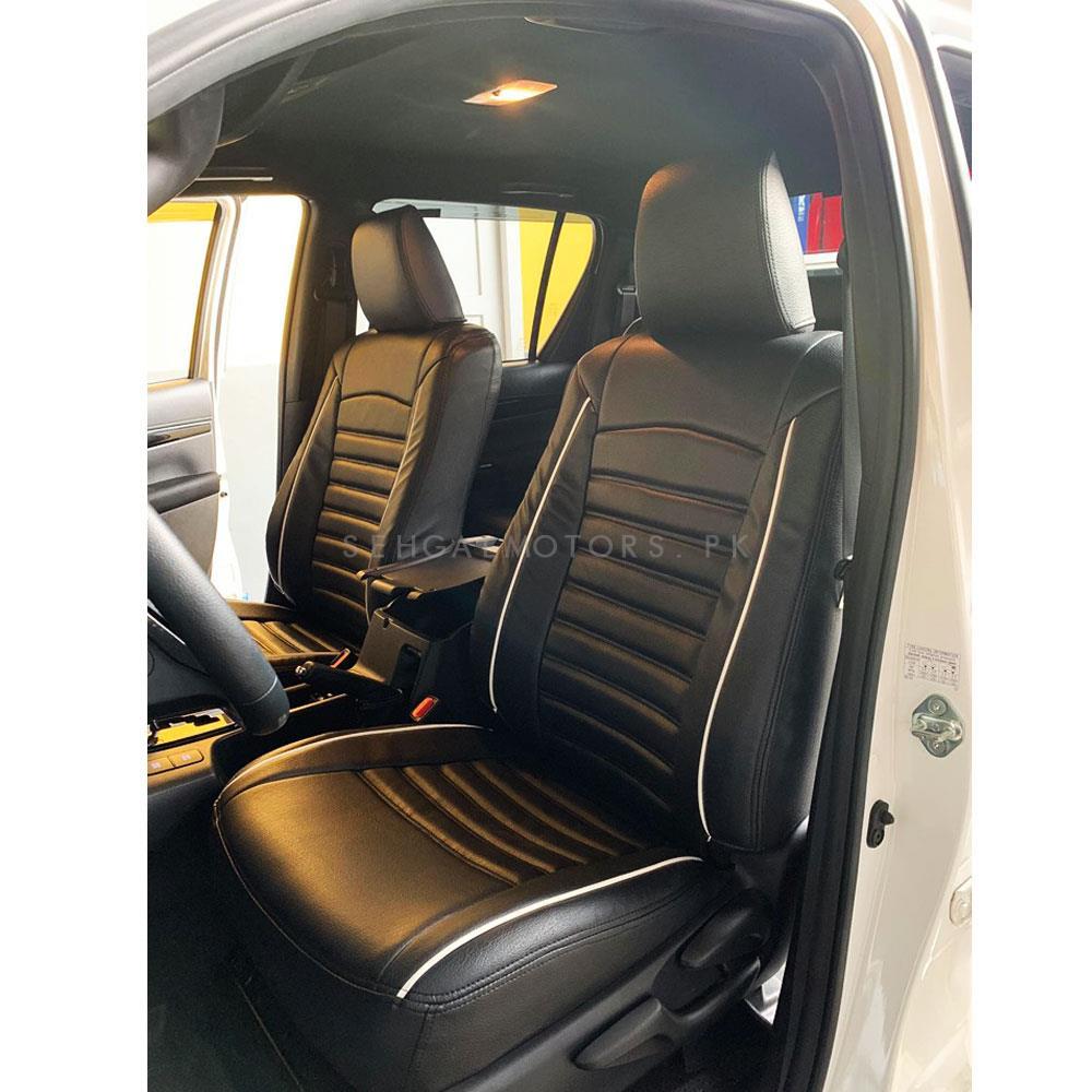 Toyota Hilux Revo Black Cut Style Seat Covers - Model 2016-2020-SehgalMotors.Pk