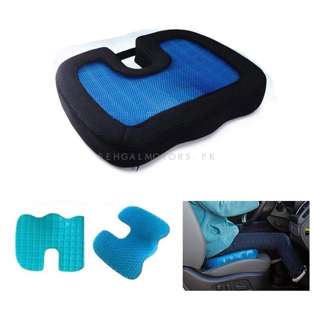 U-Shape Pain Relieve Gel Foam Seat Cushion Pressure Relief / Sciatica Pain Treatment For Car/Home/Office-SehgalMotors.Pk