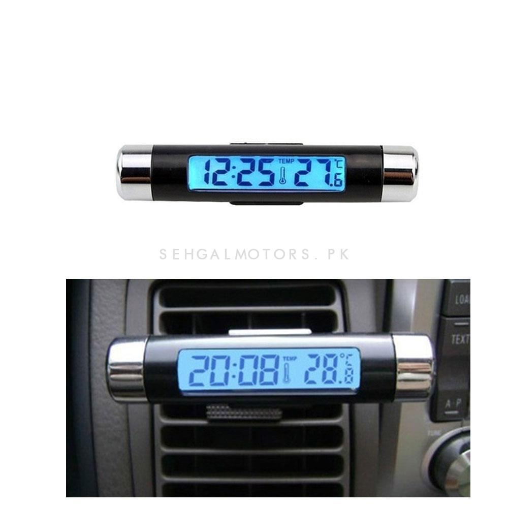 3 in 1 Digital Car Clock Thermometer Voltmeter LED Display-SehgalMotors.Pk