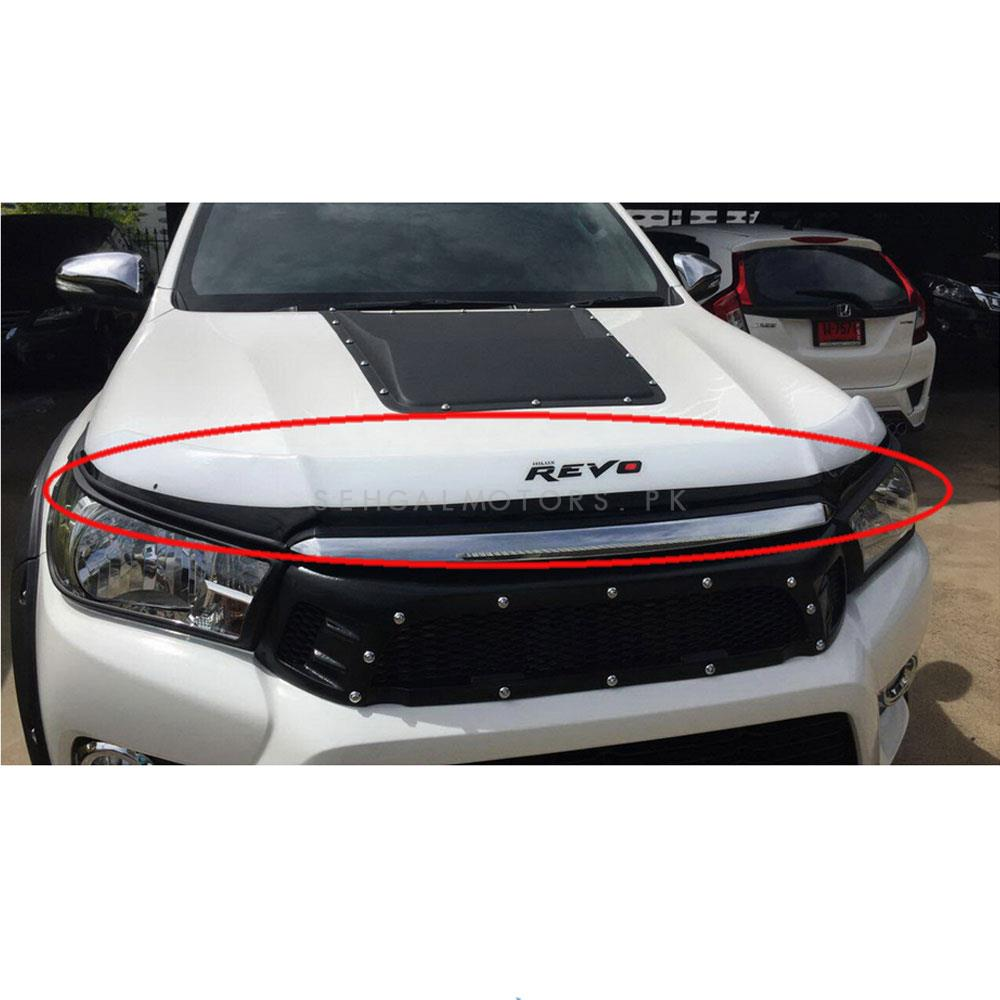 Toyota Hilux Revo Bonnet Gaurd Black and White - Model 2016-2020-SehgalMotors.Pk