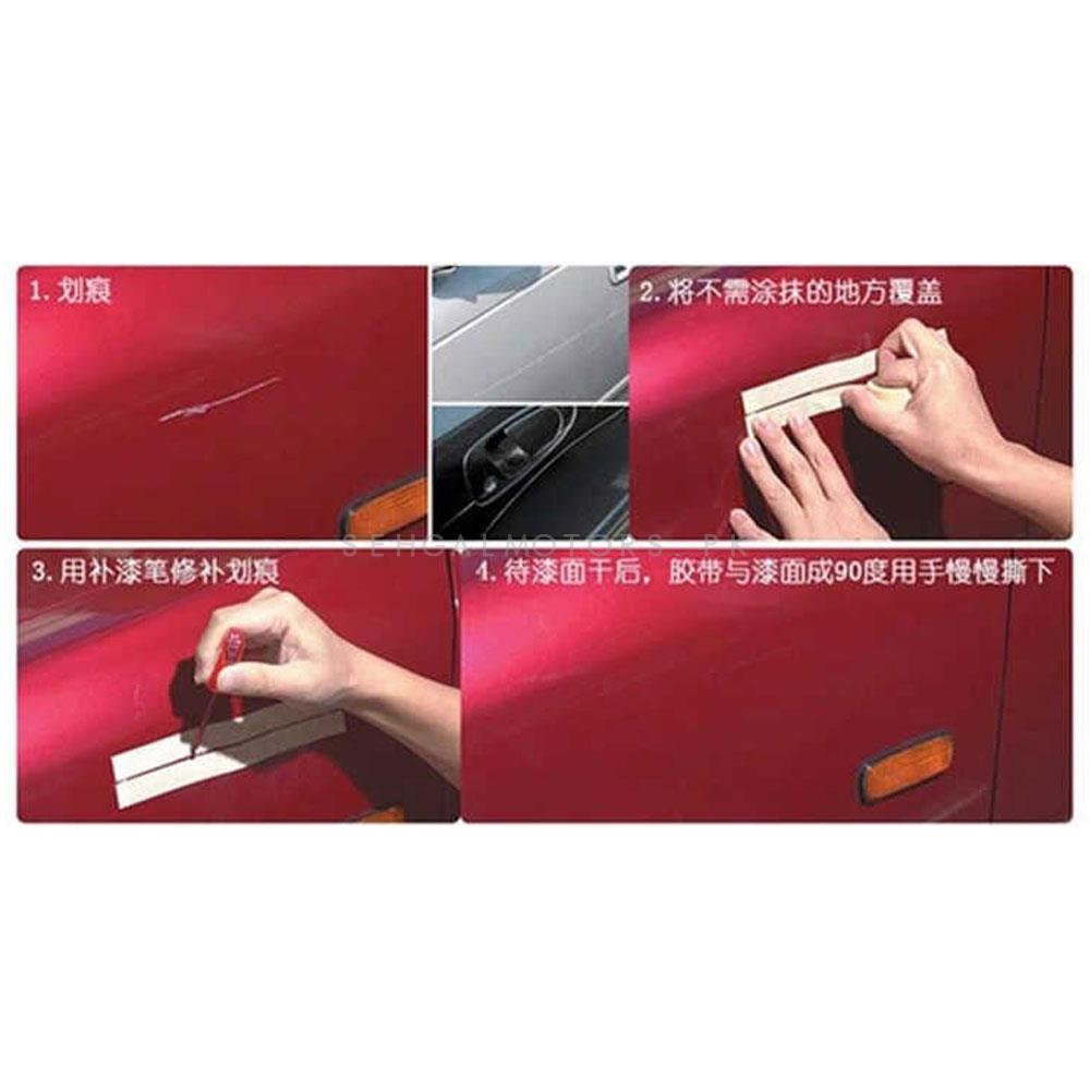 Car Scratch Filling Paint Color Pen Diamond Silver | Pro Mending Car Remover Scratch Repair Paint Pen Clear Painting Pen | Waterproof Car Auto Coat Scratch Clear Repair Paint Pen Touch up Remover Applicator Auto Care Tools-SehgalMotors.Pk
