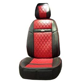 Honda City Seat Covers Leather Black Red - Model 2015-2017-SehgalMotors.Pk