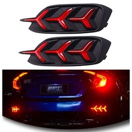 Honda Civic Back Bumper Light Mustang Style V3 with Indicator Option – Model 2016-2020-SehgalMotors.Pk