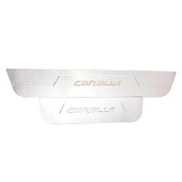 Toyota Corolla LED Sill Plates / Skuff LED panels Chrome - Model 2011-2013-SehgalMotors.Pk