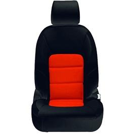Honda City Seat Covers Black Orange Design 2 - Model 2015-2017-SehgalMotors.Pk
