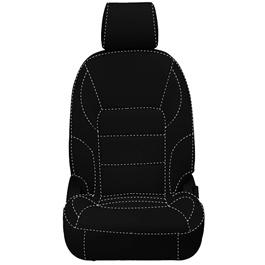 Honda City Seat Covers Black with White Stitch - Model 2015-2017-SehgalMotors.Pk