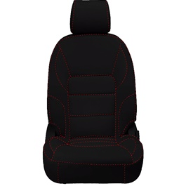 Honda City Seat Covers Black with Red Stitch - Model 2015-2017-SehgalMotors.Pk