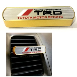 TRD AC Grill Car Perfume Fragrance Gold Color | Car Perfume | Fragrance | Air Freshener | Best Car Perfume | Natural Scent | Soft Smell Perfume-SehgalMotors.Pk