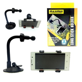 Maximus Long Stick Mouth Mobile Holder Black | Phone Holder | Mobile Holder | Car Cell Mobile Phone Holder Stand -SehgalMotors.Pk