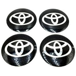 Toyota Wheel Cap Logo Black - 4 Pieces | Wheel Center Cap | Wheel Logo | Wheel Center Hub Caps | Wheel Dust Proof Covers Badge logo-SehgalMotors.Pk