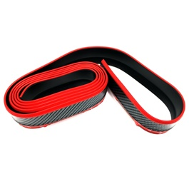 Rubber Lip Protector Carbon Fiber Black with Red Tip