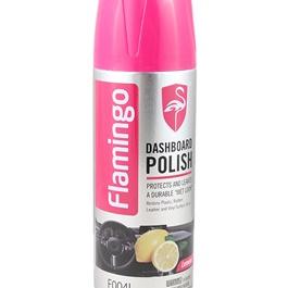 Flamingo Dashboard Polish Lemon 450ml - Black & Pink-SehgalMotors.Pk