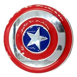 Captain America Metal Monogram Red Chrome    Emblem   Decal   Monogram   Logo-SehgalMotors.Pk