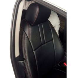 Toyota Vitz Seat Covers Black With Red Stitching-SehgalMotors.Pk