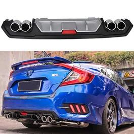 Honda Civic Kantara Style Dual Exhaust Diffuser- Model 2016-2020-SehgalMotors.Pk