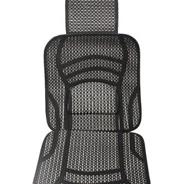 Silk Summer Seat Covers Set - Black-SehgalMotors.Pk
