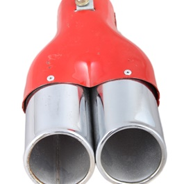 Double Exhaust Tip | Double Wall Slant | Tailpipe Dual | Car Stainless Steel Double Muffler-SehgalMotors.Pk