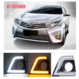 Toyota Corolla Smd USA Cob Drl Covers A Grade - Model 2014-2017-SehgalMotors.Pk
