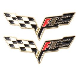 Corvette Metal Logo Mix Color - Each    Emblem   Decal   Monogram   Logo-SehgalMotors.Pk