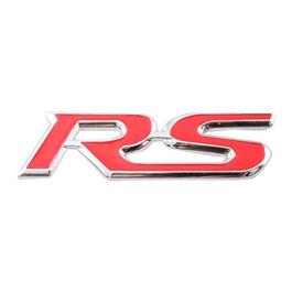 RS Metal Logo Red - Each    Emblem   Decal   Monogram   Logo-SehgalMotors.Pk
