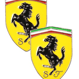 SF Metal Logo   Emblem   Decal   Monogram - Yellow-SehgalMotors.Pk