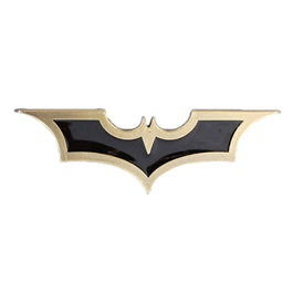 Batman Metal Logo Black - Mix Color | Emblem | Decal | Monogram | Logo-SehgalMotors.Pk