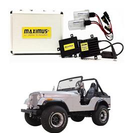 Jeep CJ-5 Maximus 200W HID 6000 Lumens - Model 1954 - 1983-SehgalMotors.Pk